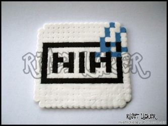 8-Bit NIN Logo Coaster by angeleyezxtc