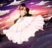 Ace and Hatomi's Wedding by HatoChan19