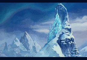 Frozen Castle - Digital Painting by nataliebeth