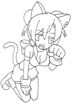 Akai Neko Lineart by RedWorld-Neko