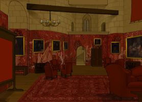 Gryffindor Common Room by Hogwarts-Castle