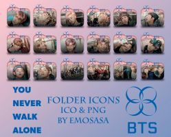 BTS Folder Icons 'YOU NEVER WALK ALONE' by emosasa by emosasa