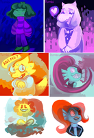 Undertale speedpaints by ivymaid