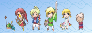 Wind Waker Chibi Set by ColeyCannoli