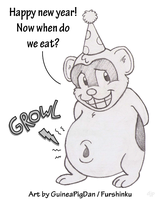Hungry New Year by GuineaPigDan