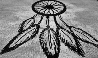bw dream catcher by IGotSunshine