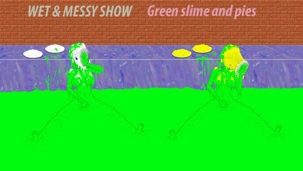 Green slime and pies by sg19001