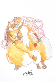 Vixen and her fox by KLFrancis
