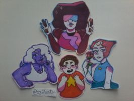 The crystal gems !!  by cqldwater