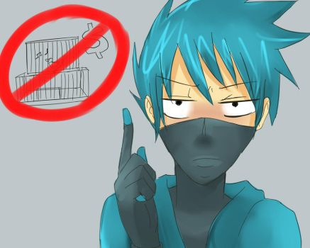 Zoo Group- Cyan says no by Merurucchi