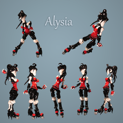 Articulated Alysia by retinence