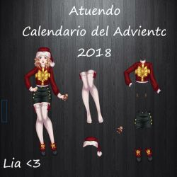 Atuendos Calendario del Adviento 2018 by LiaVongola