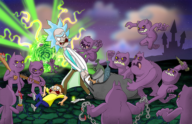 Rick and Morty Go to Hell by cgianelloni