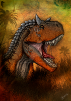 Carnotaurus (colored version poster) by Aram-Rex