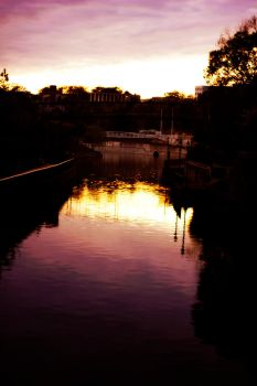 Richmond Canal Sunset by picturesarelife
