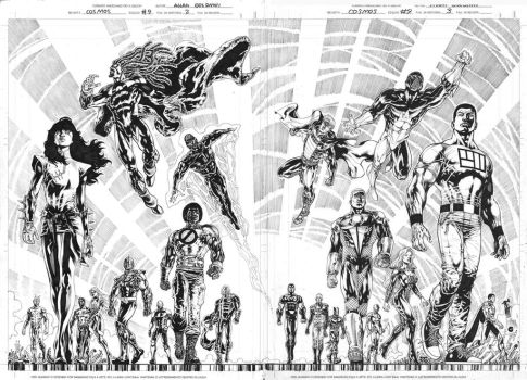Double page from Cosmos #9 to Advent Comics! by Goldmanpenciler
