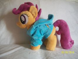 Scootaloo Plush with Rainbow Dash Hoodie ! by SiamchuchusPlushies