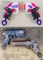 Nerf Rebelle Power Pair steampunk / modern pistol by GirlyGamerAU
