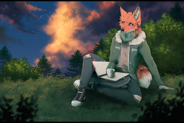 Quiet summer day [Commission] by Foreyster