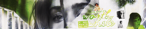 Worth All The While Banner by herrondale