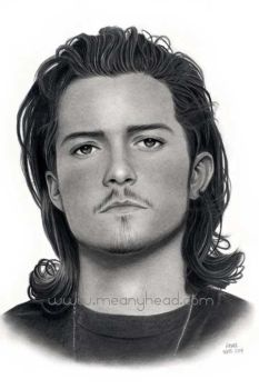 Orlando Bloom drawing by little-faerie-bits