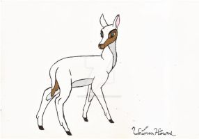 Bambi styled white deer(Requested my Micole00) by UnicronHound