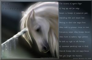 The Unicorn Visual Poem by meljoy68