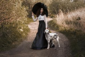 # The Lady with dog by Mishkina
