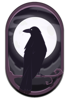 Crow and the Moon by VilePurple