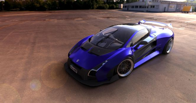 Newton Grav80 Super car concept by lietuvis2008
