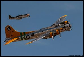 B-17 and Little Friend by AirshowDave