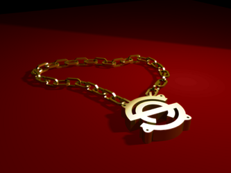 Subaddiction Golden NeckLace by subaddiction