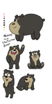 Speckles The Spectacled Bear (WBB OC) by Bordercollie15