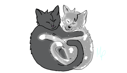 Smokestar and Windglimmer by Warrior-Cats-Girl14