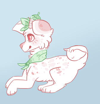 Strawberry pup payment by Blue-Shiny-Scissors