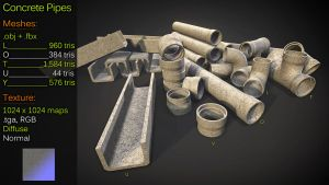 Concrete Pipes by Yughues