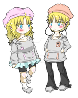 .:UTAU:. Puchine Twins 2013 CC by A-Daiya