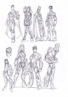 Man of Steel sketches2 by NachoMon