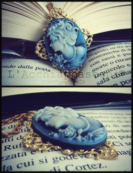 Blue Lady Cameo vintage style Necklace by AliDiCeraBianca