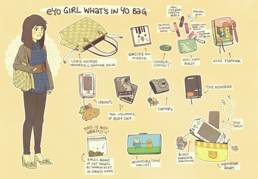 eyo girl what's in yo bag by 021