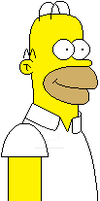 The Simpsons - Homer Simpson by SuperMarioFan65