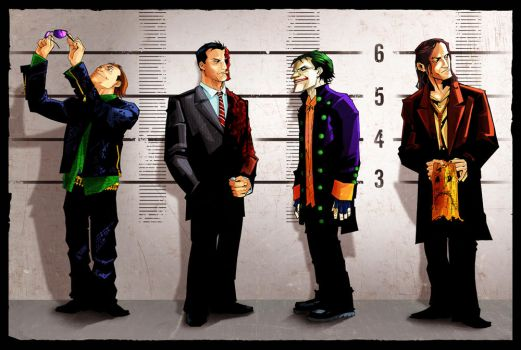 Arkham's Usual Suspects by Joey-Zero