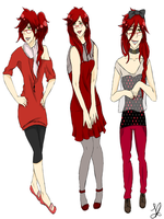 Modern!Grell outfits by AmericanNordic
