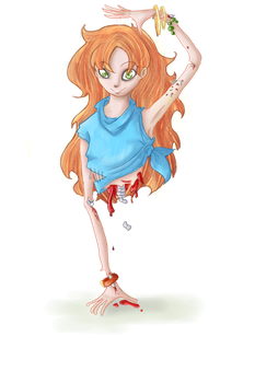 Zombie girl [half] by Dacara