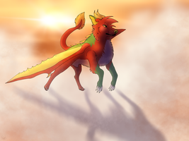 Sunfall - Art Trade by RolePlayGalPaw