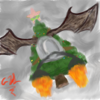 Flying Christmas Tree by altimis