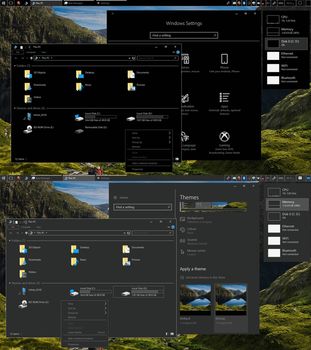 ReBlack and ReGray Themes for windows 10 by ReSayed