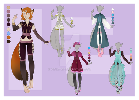 :: July Commission 06: Outfit Wardrobe :: by VioletKy
