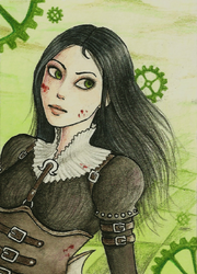 ACEO #58 - Alice - Madness Returns by 0Ru