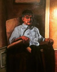 Oil Painting of my Dad furthered by jamescox1996